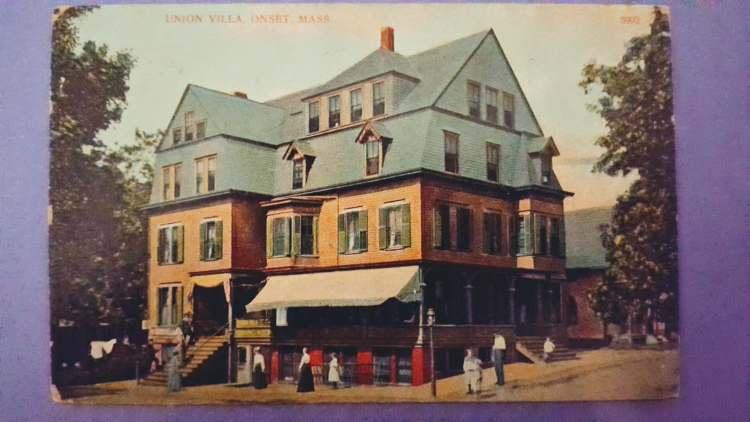 Color picture of an hotel circa the 1890's.