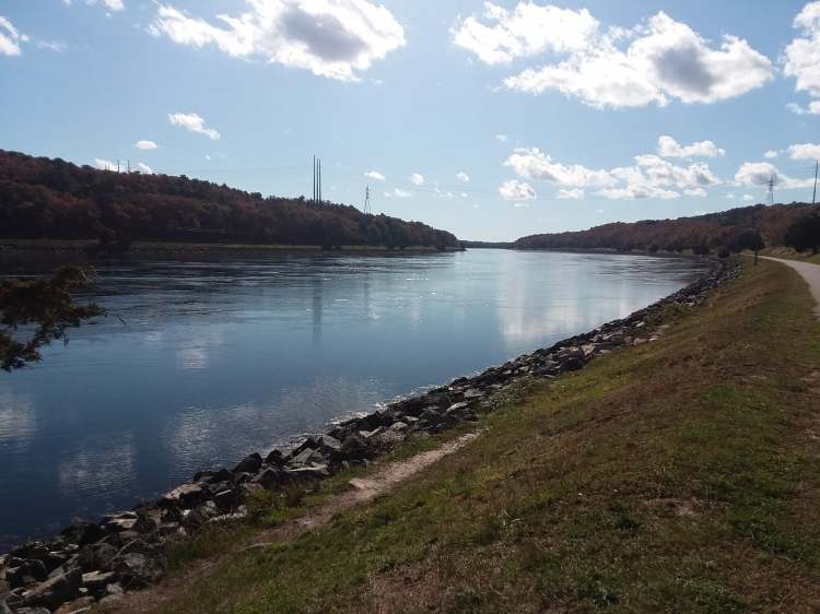 A picture of the Cape Cod Canal taken by the author.
